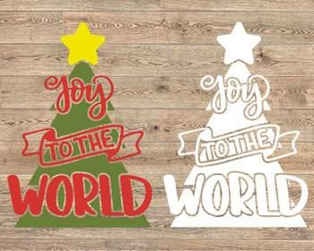 Joy Wreath svg Joy to the world Christmas wreath Christmas decor Holiday 968s