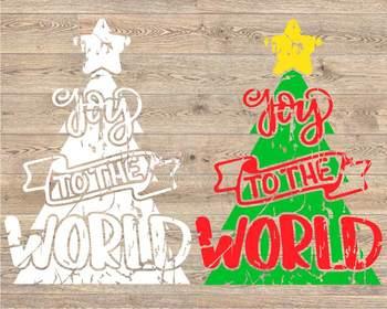 Joy Wreath svg Joy to the world Christmas wreath Christmas grunge Holiday 969s