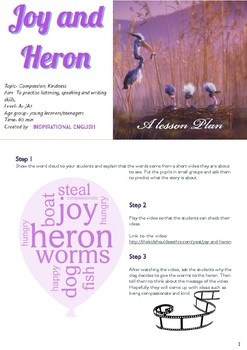 Joy and Heron -Lesson Plan