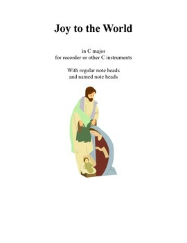 Joy to the World in C with named note heads
