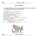 Joy to the World worksheets
