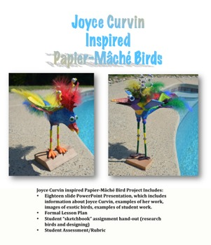 Joyce Curvin inspired Papier-Mâché Bird Project