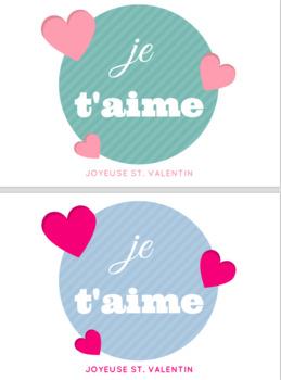 Joyeuse Saint Valentin, French Valentine Cards, St Valentin