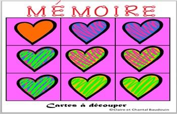 Joyeuse Saint-Valentin Jeu de mémoire