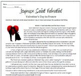 Joyeuse Saint Valentin! Valentine's Day in France Reading & Substitute Plan