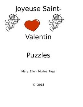 Joyeuse Saint Valentine Puzzles and Games