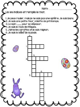 {Joyeuses Paques!} French language activities for immersion or Core French