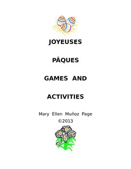 Joyeuses Paques Games and Activities