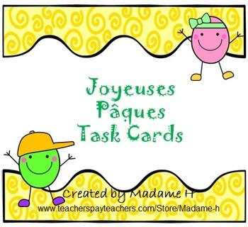 Joyeuses Pâques:  Task Cards