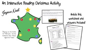 Joyeux Noël- Christmas in France/ Interactive Reading Activity