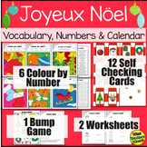 Joyeux Noel FSL Christmas Activities(Colours, Numbers, Days of the Week, Months)