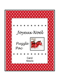 Joyeux Noël Puzzle * Pac ~ French Christmas Activities
