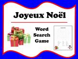 French Christmas (Joyeux Noël) Word Search
