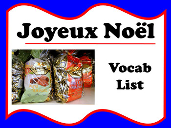 Joyeux Noël vocab list (French Christmas)