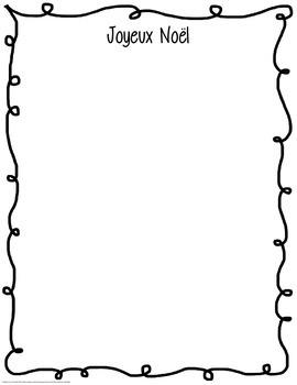 Joyeux Noël Acrostic Poem Starter with Illustration Page + Template