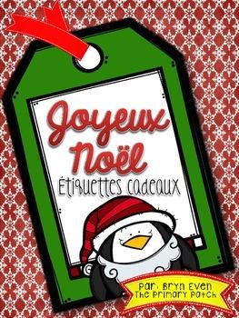 Joyeux Noël: Étiquettes Cadeaux-FREEBIE