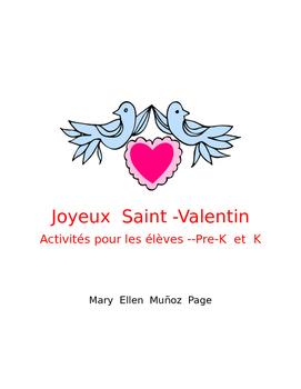 Joyeux Saint Valentin Pre.K et K