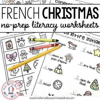 Joyeux décembre! Activités de littératie SANS PREP!