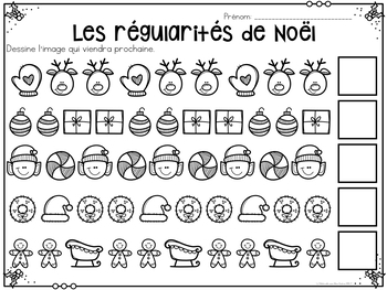 Mathématiques SANS PREP! Noël - FRENCH No-Prep Christmas Math Activities Pack