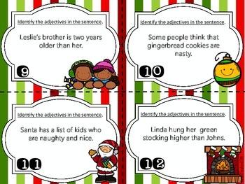Joyful Adjectives task card set