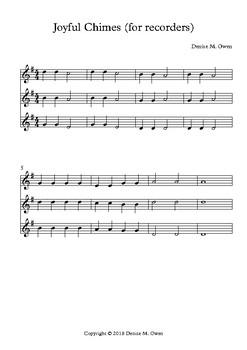 Joyful Chimes (for recorder)