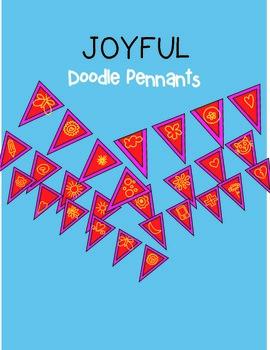 Joyful Doodle Pennant