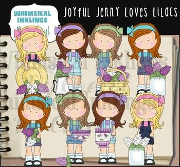 Joyful Jenny Loves Lilacs Clipart Collection