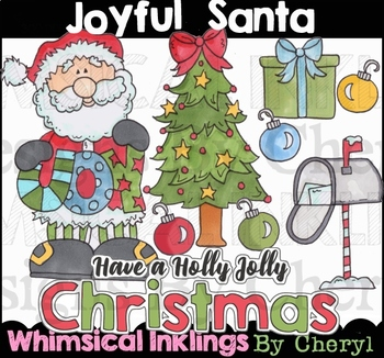 Joyful Santa Clipart Collection