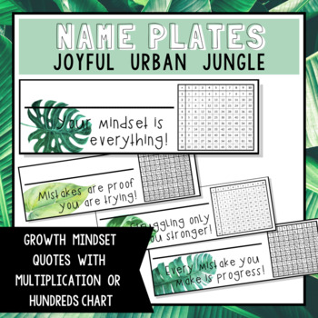 Joyful Urban Jungle Name Plates - FREEBIE