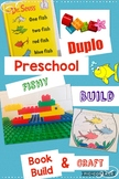 Jr Engineer, Fish Book Build, Learning with Duplo® Bricks