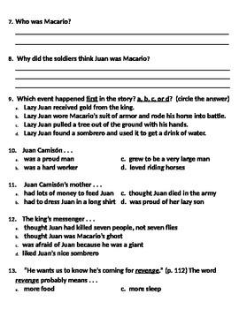 Juan Camison story questions