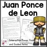 Juan Ponce de Leon: 3rd grade Interactive PowerPoint