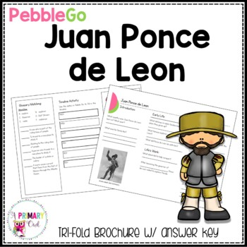 Juan Ponce de Leon PebbleGo research brochure
