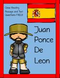 Juan Ponce de Leon Reading Passage