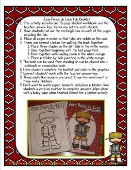 Juan Ponce de Leon Tab Booklet