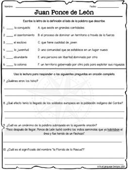 Juan Ponce de León en español / Juan Ponce de Leon in Spanish