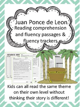 Juan Ponce de Leon fluency and comprehension leveled passage