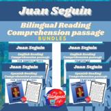 Juan Seguin Bilingual Reading Comprehension Activity Bundle