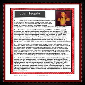 Juan Seguin Test Prep Reading Comprehension