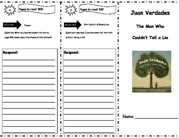 Juan Verdades Storytown Comprehension Trifold