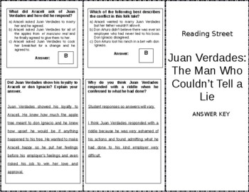 Juan Verdades: The Man Who Couldn't Tell a Lie - 6th Grade Reading Street
