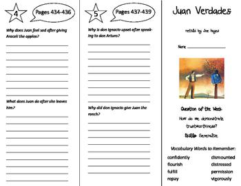 Juan Verdades Trifold - Reading Street 6th Grade Unit 3 Week 4