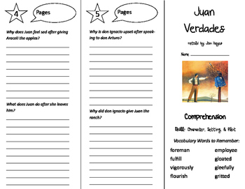 Juan Verdades Trifold - Treasures 6th Grade Unit 3 Week 1