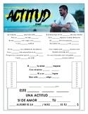 Juanes - 'Actitud' Cloze Song Sheet!