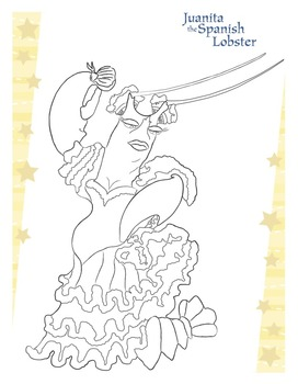 Juanita the Spanish Lobster Coloring Page from Maestro Classics