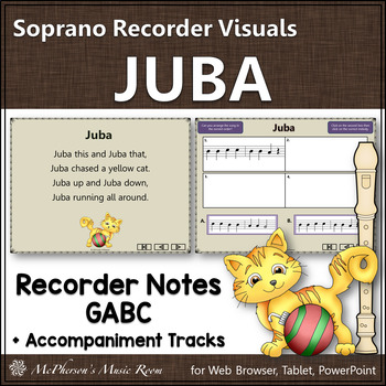 Juba - Soprano Recorder Visuals (Notes GABC)