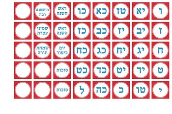 Judaic Classroom Calendar - additional dates