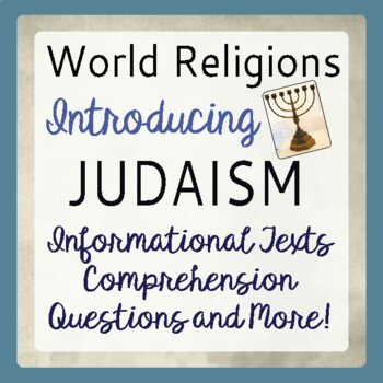 Judaism World Religions Introduction Informational Texts, Activities