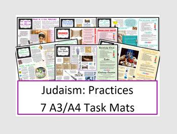 Judaism: 7 Jewish Practices Task Mats