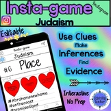 Judaism Activity - Instagram (Editable Insta-game)